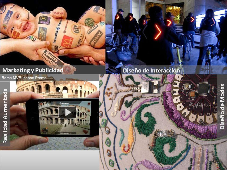 Marketing y Publicidad Diseño de Interacción Diseño de Modas Realidad Aumentada Diseño de Modas
