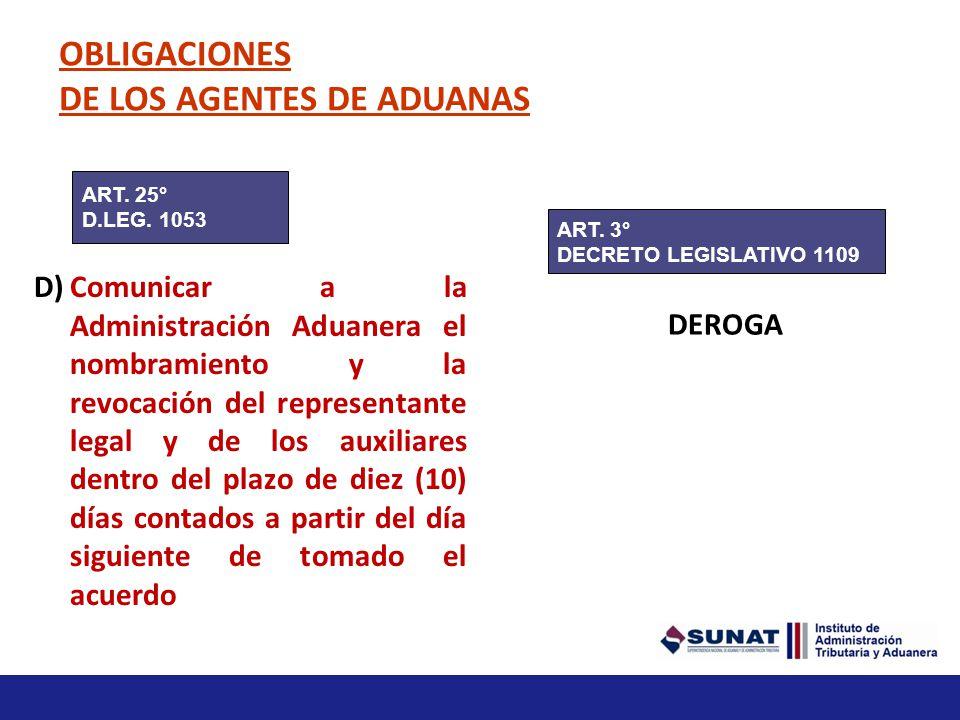 Obligaciones específicas a) Conservar durante cinco (5) años toda la documentación original de los despachos en que haya intervenido(…) La Administrac
