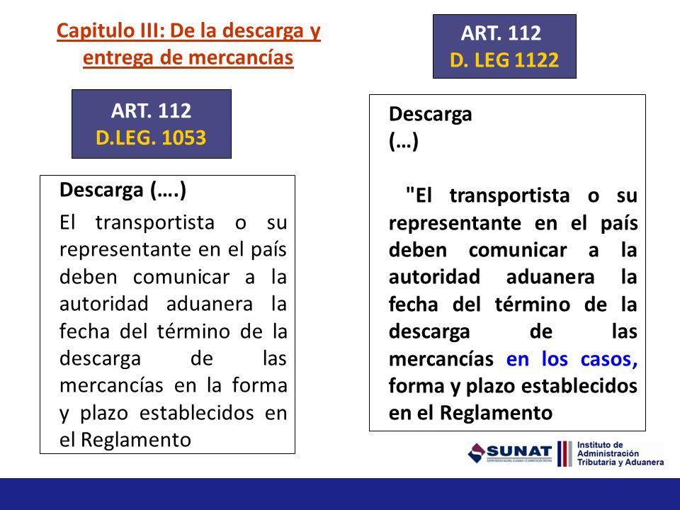 Capitulo II: De la llegada de los medios de transporte Fecha y hora de llegada Las compañías transportistas o sus representantes comunican a la autori
