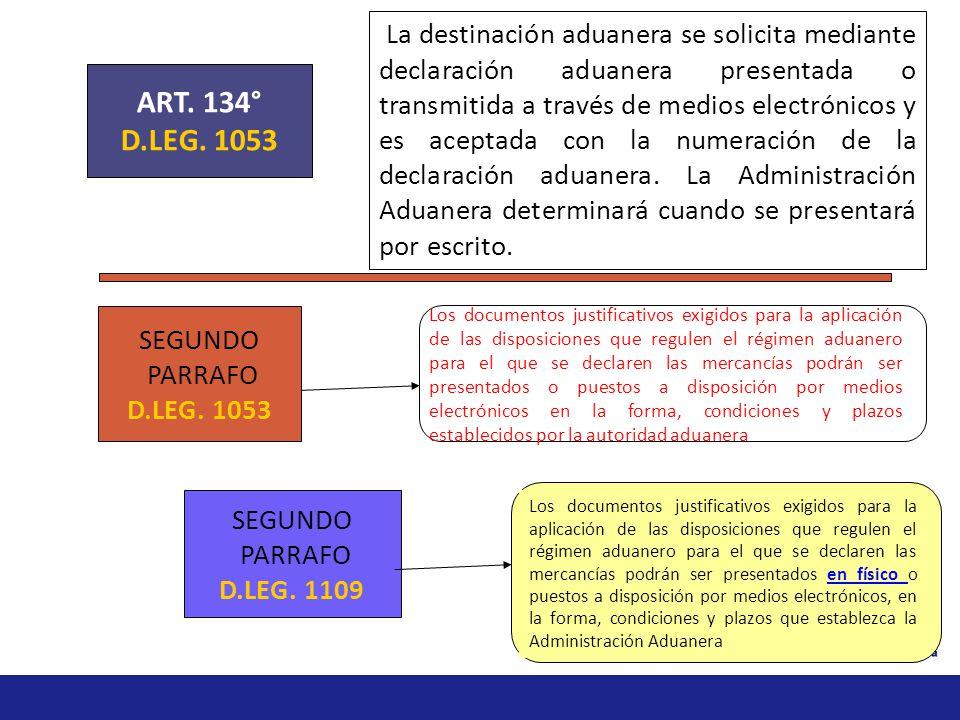 Aceptación anticipada de la declaración Los regímenes de importación para el consumo, admisión temporal para perfeccionamiento activo, admisión tempor