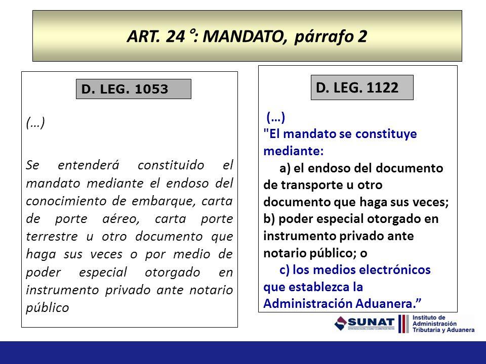 Obligaciones Generales Operadores Comercio Exterior (…) j) Otras que se establezcan en el Reglamento. ART. 16 D.LEG. 1053 j) Someter las mercancías a