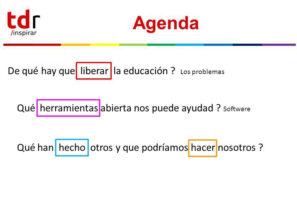 Agenda De qué hay que liberar la educación .