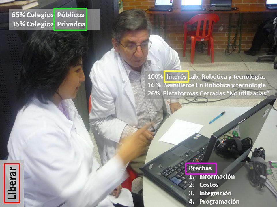Brechas 1.Información 2.Costos 3.Integración 4.Programación 100% Interés Lab.