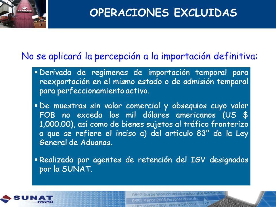 Derivada de regímenes de importación temporal para reexportación en el mismo estado o de admisión temporal para perfeccionamiento activo. De muestras