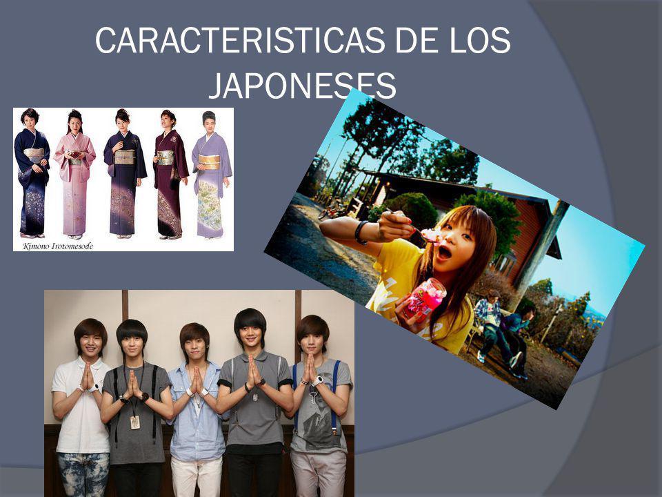 CARACTERISTICAS DE LOS JAPONESES