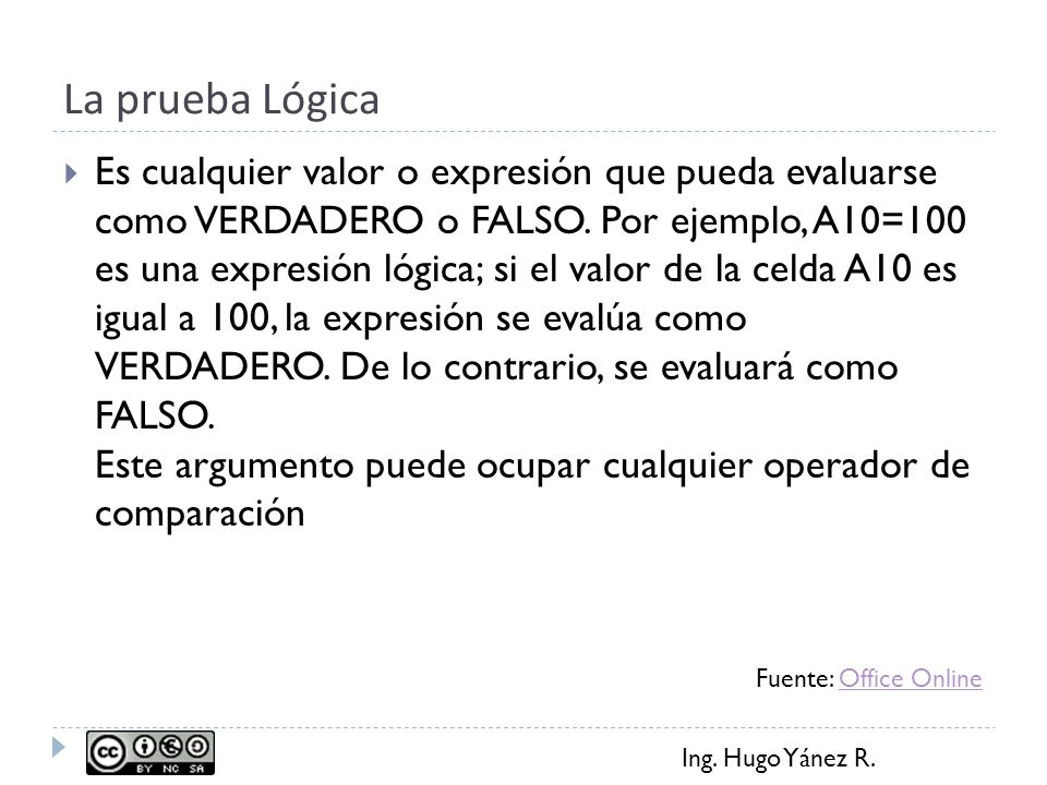 Ing. Hugo Yánez R. Operadores de Comparación