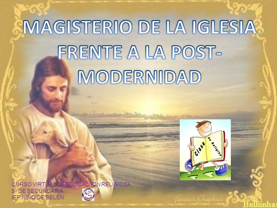 CURSO VIRTUAL DE EDUCACI{ON RELIGIOSA 5° DE SECUNDARIA IEP NIÑO DE BELÉN