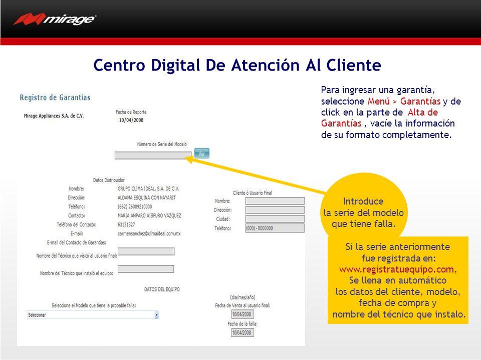 Para ingresar una garantía, seleccione Menú > Garantías y de click en la parte de Alta de Garantías, vacíe la información de su formato completamente.