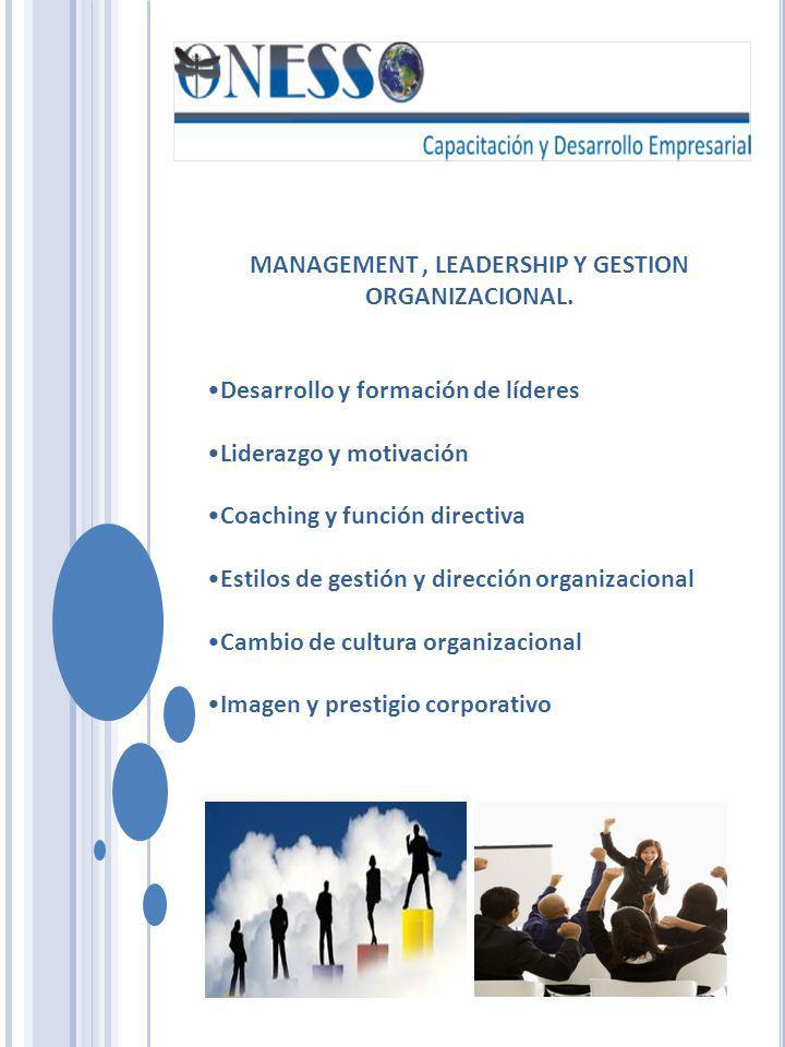 HABILIDADES DIRECTIVAS Y GERENCIALES Habilidades directivas para la gestión de equipos de trabajo Formación de Instructores Toma de decisiones y solución de problemas Planeación y administración del tiempo y control del estréss Productividad