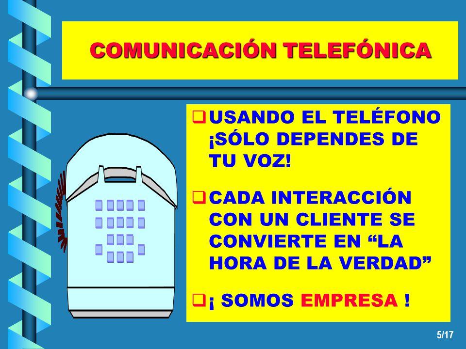5/17 COMUNICACIÓN TELEFÓNICA USANDO EL TELÉFONO ¡SÓLO DEPENDES DE TU VOZ.
