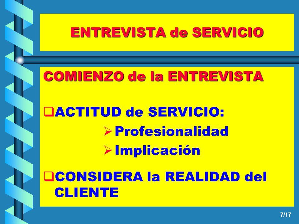 6/17 ENTREVISTA de SERVICIO UN TRABAJO: TRES DIMENSIONES PROFESIONAL HUMANA OCULTA O INTERNA