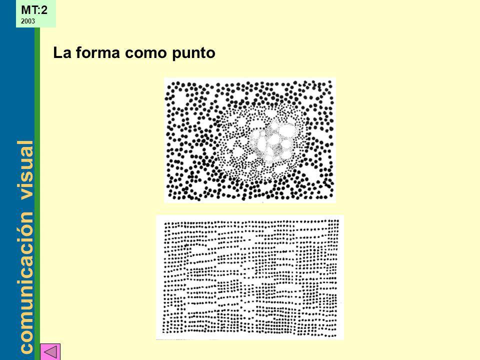 comunicación visual MT:2 2003 La forma como punto
