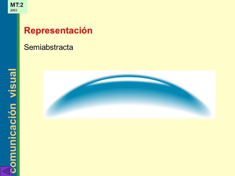 comunicación visual MT:2 2003 Semiabstracta Representación