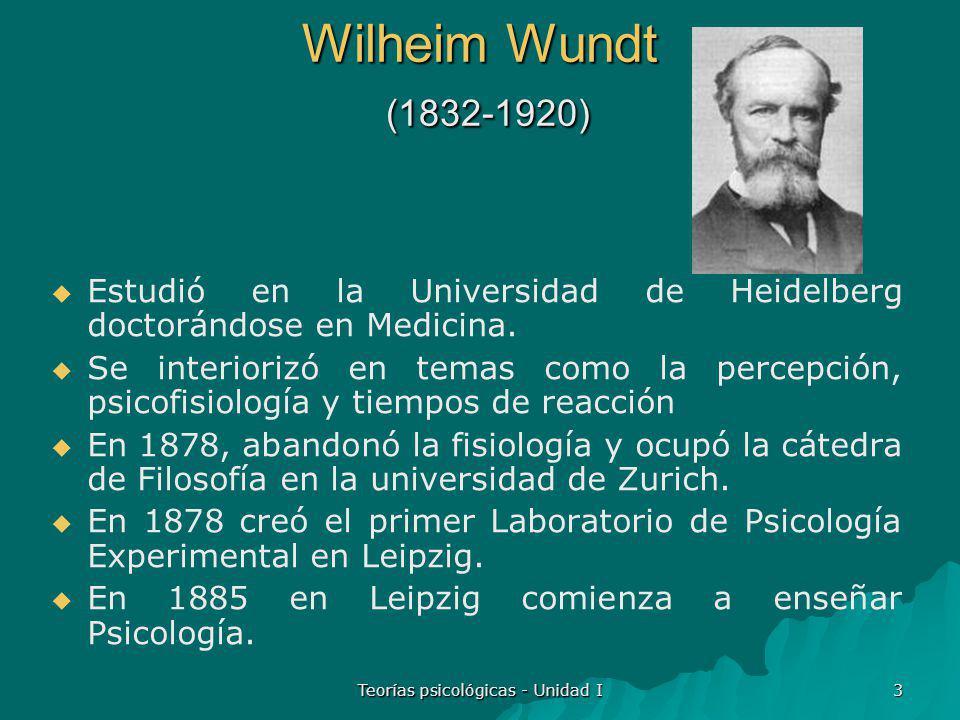 Teorías psicológicas - Unidad I 4 Psicología Experimental Esta nueva Psicología surgió: de la fisiología de los órganos sensoriales y de la influencia de los supuestos filosóficos.
