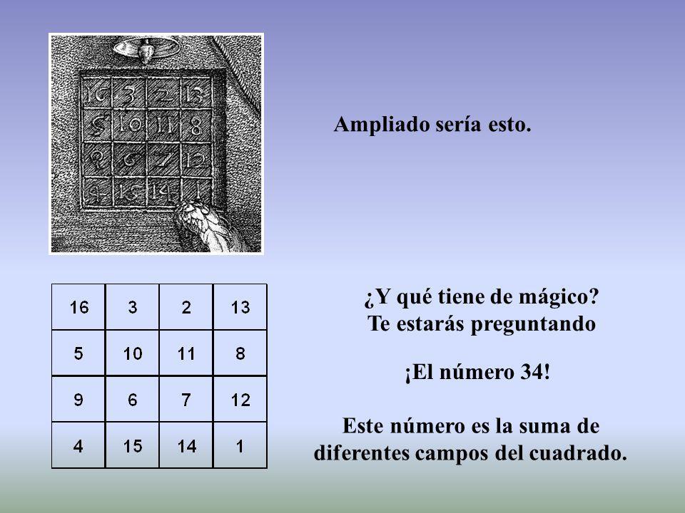 163213 5 10118 96712 415141 Durero creó este cuadrado en 1514.
