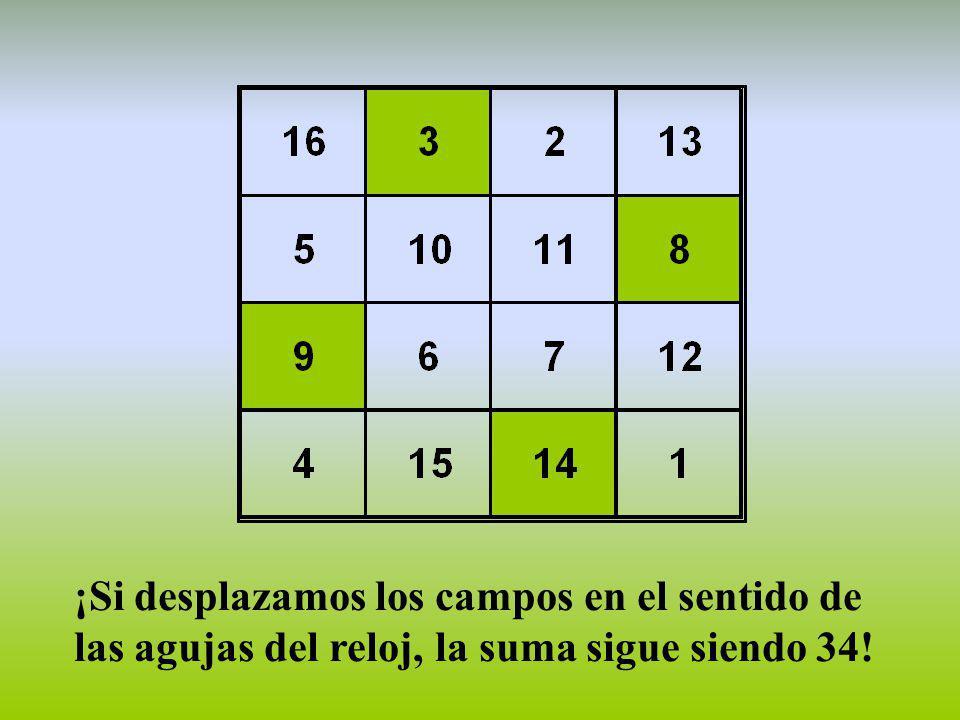 ¡La suma de las cuatro esquinas es 34!