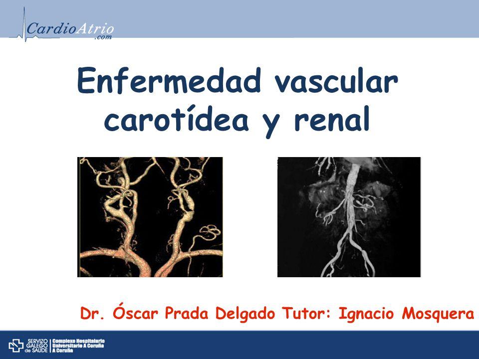 Enfermedad vascular carotídea y renal Dr. Óscar Prada Delgado Tutor: Ignacio Mosquera