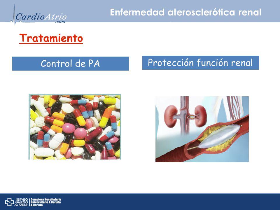 Enfermedad aterosclerótica renal Tratamiento Control de PA Protección función renal