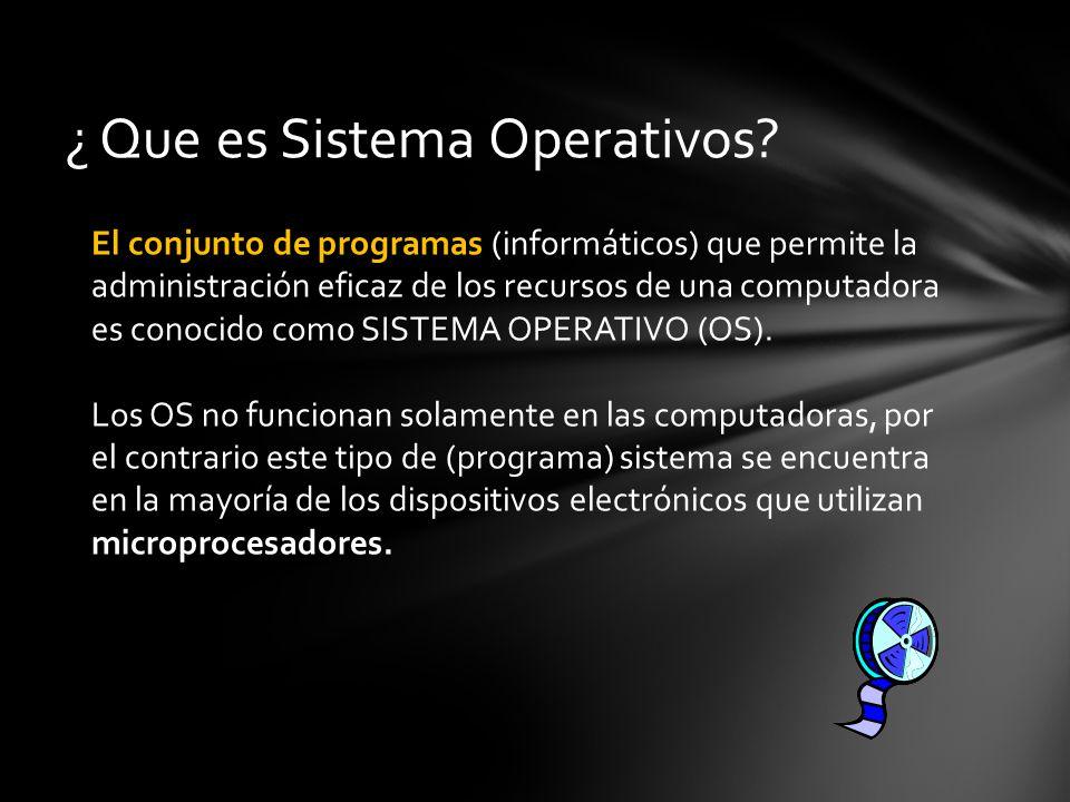 ¿ Que es Sistema Operativos.