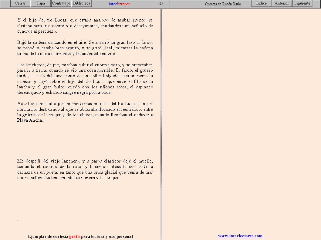 www.interlectores.com Ejemplar de cortesía gratis para lectura y uso personal 25 interlectores Cuentos de Rubén Dario