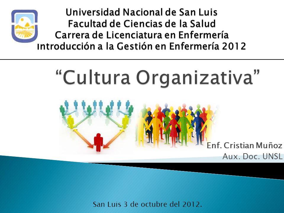 Enf. Cristian Muñoz Aux. Doc. UNSL San Luis 3 de octubre del 2012.