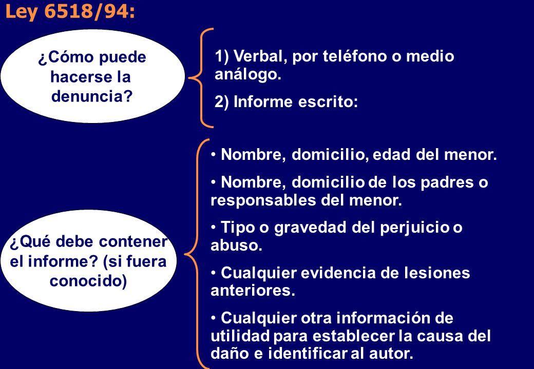 Ley 6518/94: 1) Verbal, por teléfono o medio análogo.