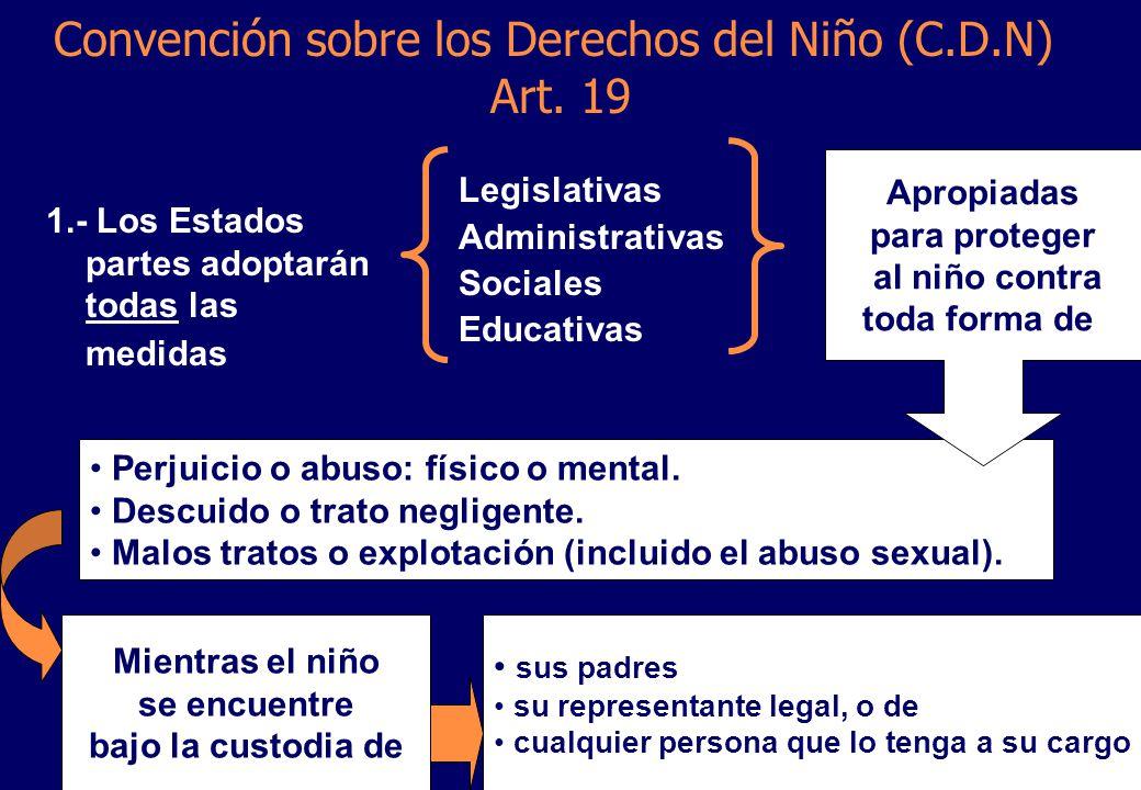 Convención sobre los Derechos del Niño (C.D.N) Art.