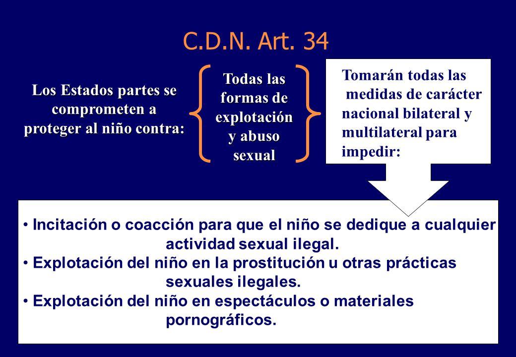 Incitación o coacción para que el niño se dedique a cualquier actividad sexual ilegal.