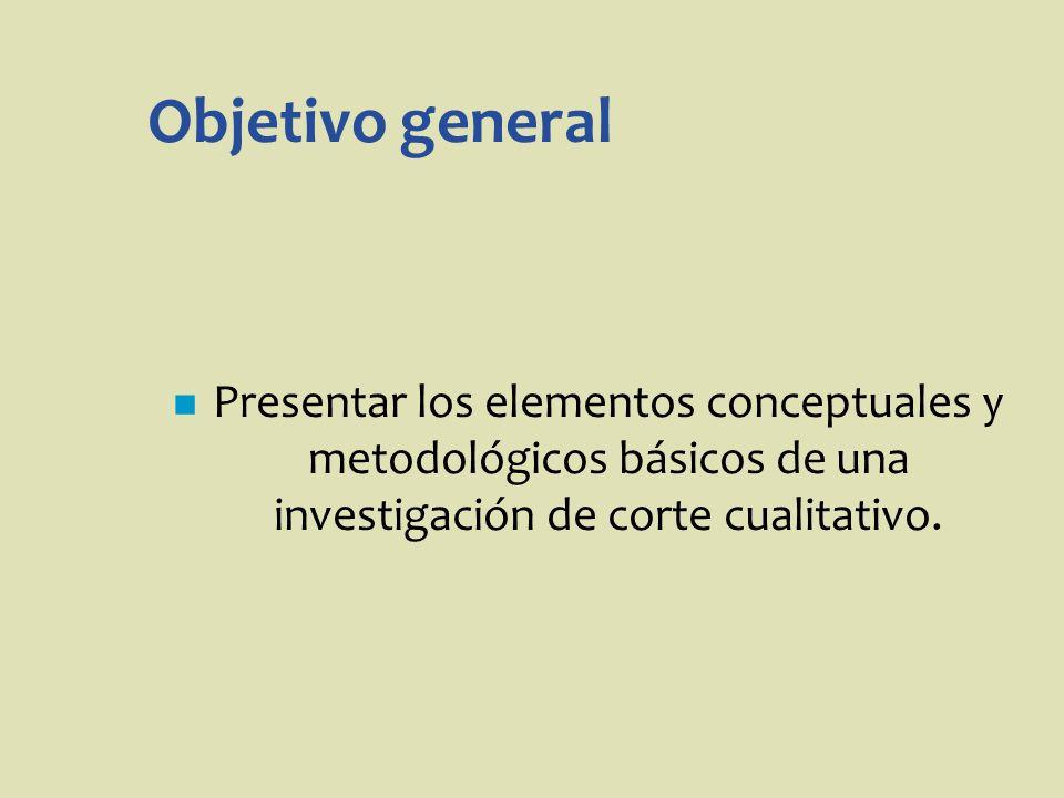Identificar características comunes a las diferentes modalidades de investigación cualitativa.