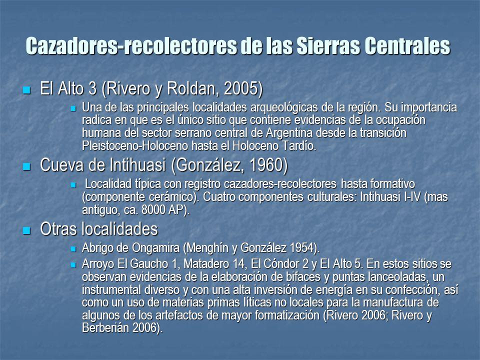 El Alto 3 (Rivero y Roldan, 2005) El Alto 3 (Rivero y Roldan, 2005) Una de las principales localidades arqueológicas de la región. Su importancia radi