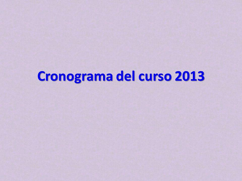 Cronograma del curso 2013