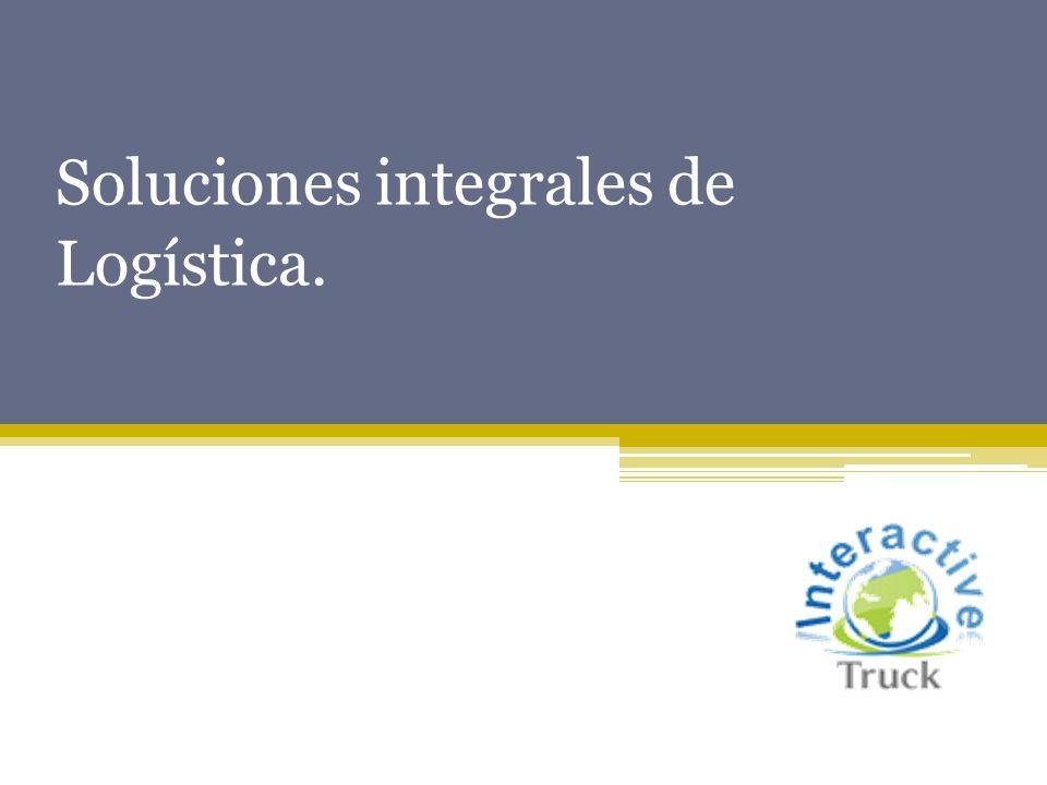 Soluciones integrales de Logística.