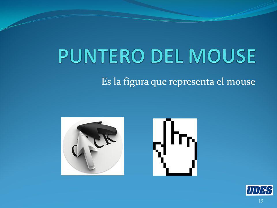 Es la figura que representa el mouse 15