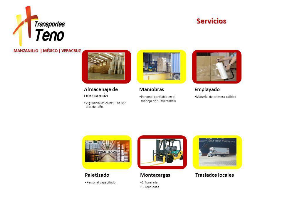 MANZANILLO | MÉXICO | VERACRUZ Servicios Almacenaje de mercancía Vigilancia las 24 hrs.
