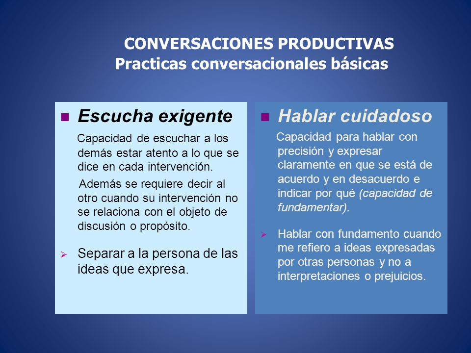 De Negociación Explicitacíón de ideas e intercambio de compromisos conversacionales en función de un objetivo a determinar. Acuerdos, compromisos, tom
