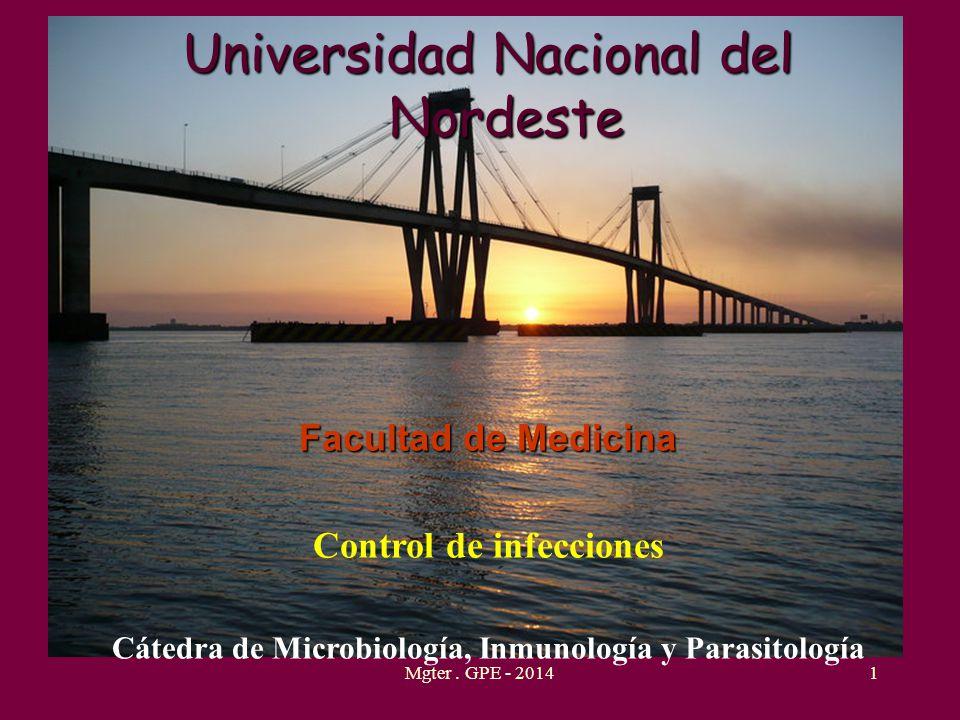 Universidad Nacional del Nordeste Facultad de Medicina Control de infecciones Cátedra de Microbiología, Inmunología y Parasitología 1Mgter. GPE - 2014
