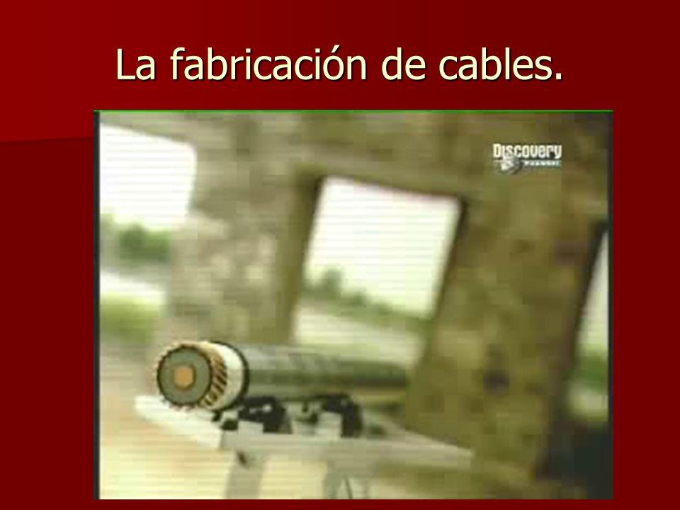La fabricación de cables.
