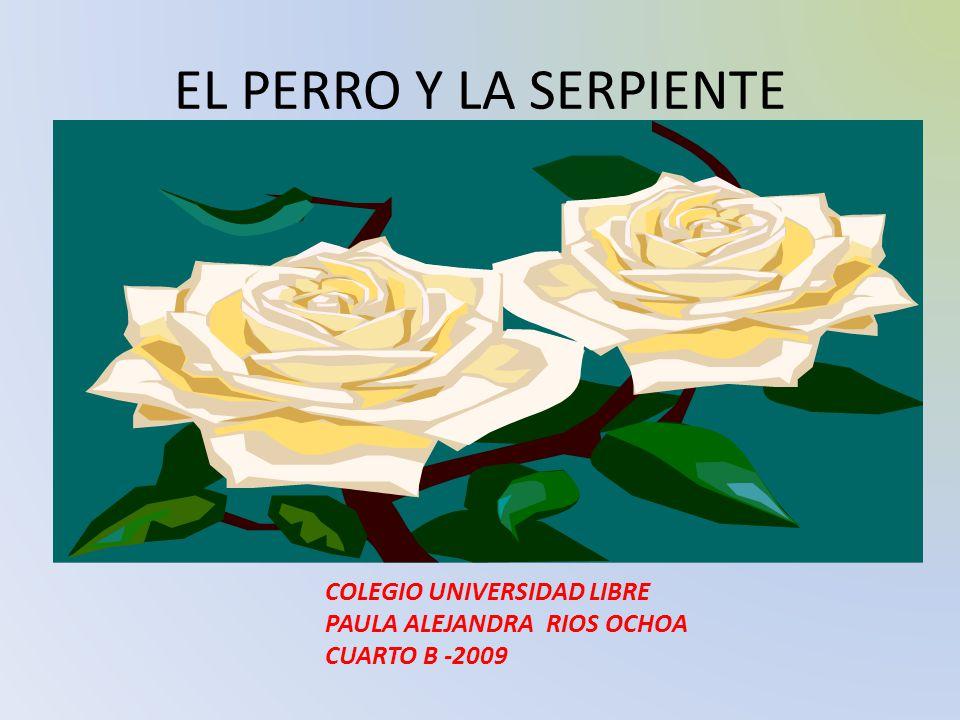 EL PERRO Y LA SERPIENTE ALEJANDRA COLEGIO UNIVERSIDAD LIBRE PAULA ALEJANDRA RIOS OCHOA CUARTO B -2009