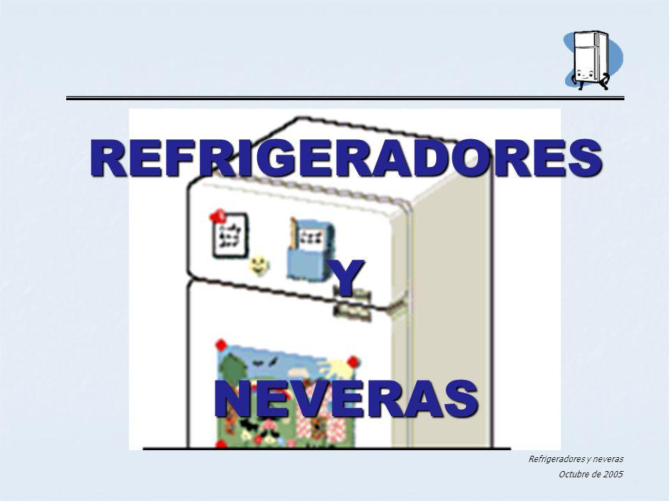 Refrigeradores y neveras Octubre de 2005 REFRIGERADORES Y NEVERAS