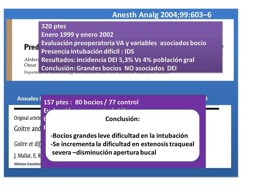 Anesth Analg 2004;99:603–6 Annales Franc¸aises dAnesthe´ sie et de Re´animation 29 (2010) 436–439