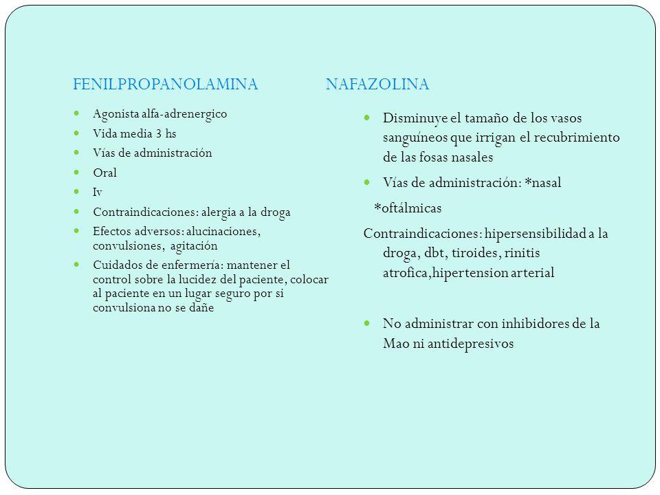 TRAMAZOLINA Descongestivo naso-faringeo, agonista adrenérgico de efecto duradero.