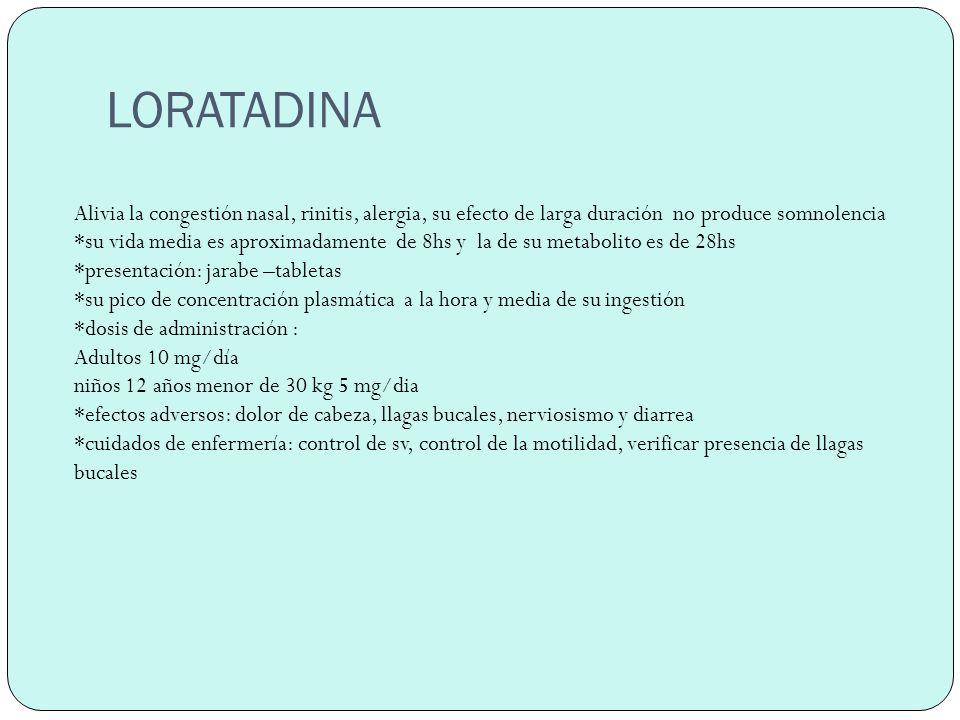 Características de los antihistamínicos h1 etano laminas: dimenhidrinato- difenhidramina- Efectos: intensa sedación, mucha actividad anti colinérgica, baja incidencia de inconvenientes gastrointestinales Piperázinas *hidroxizina,cetirizina.