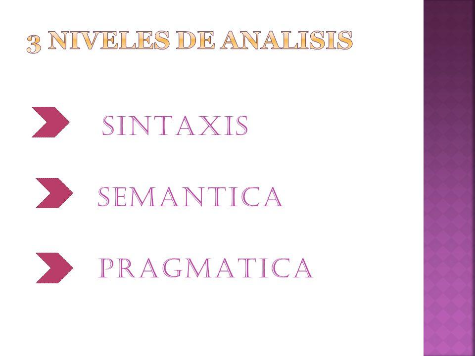 SINTAXIS SEMANTICA PRAGMATICA