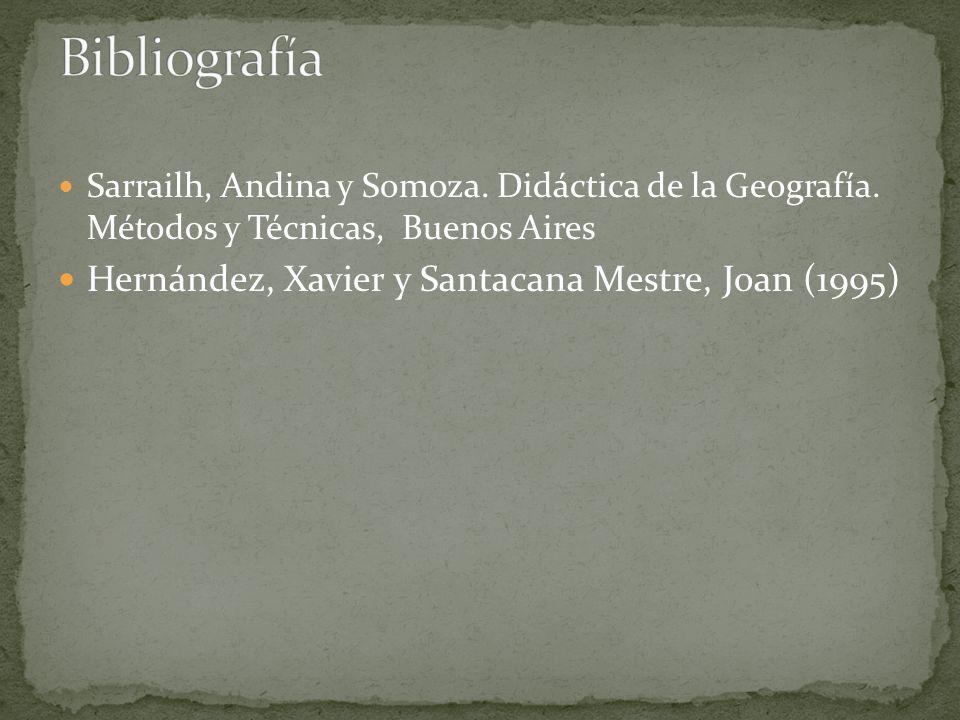 Sarrailh, Andina y Somoza. Didáctica de la Geografía.