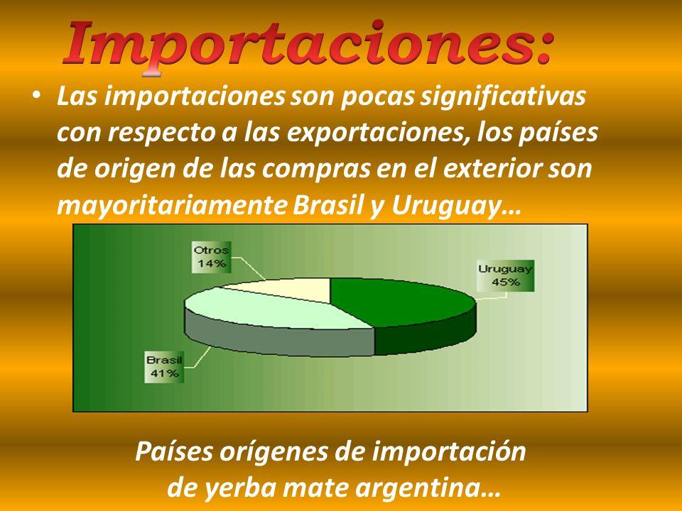 Evolución de las exportaciones argentinas de yerba mate en volumen y valor… Entre 1999 y once meses del año 2005 argentina exporto entre un 10% y un 1
