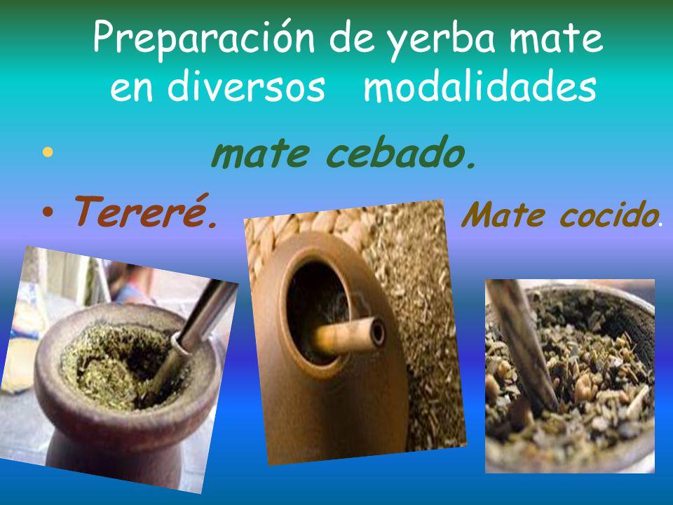 La infusión de las hojas de yerba mate presenta propiedades energizantes y notificantes debidas al contenido de mateina.