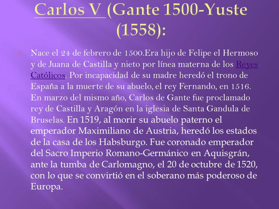 CARLOS I DE ESPAÑA Y V DE ALEMANIA … SU BUSTO