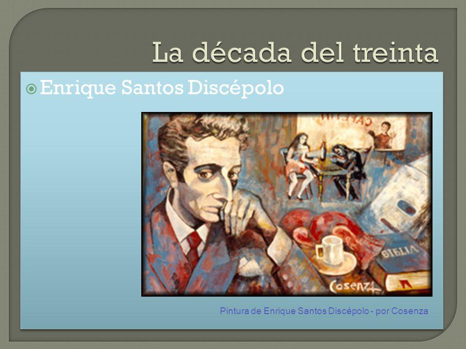 Enrique Santos Discépolo Pintura de Enrique Santos Discépolo - por Cosenza