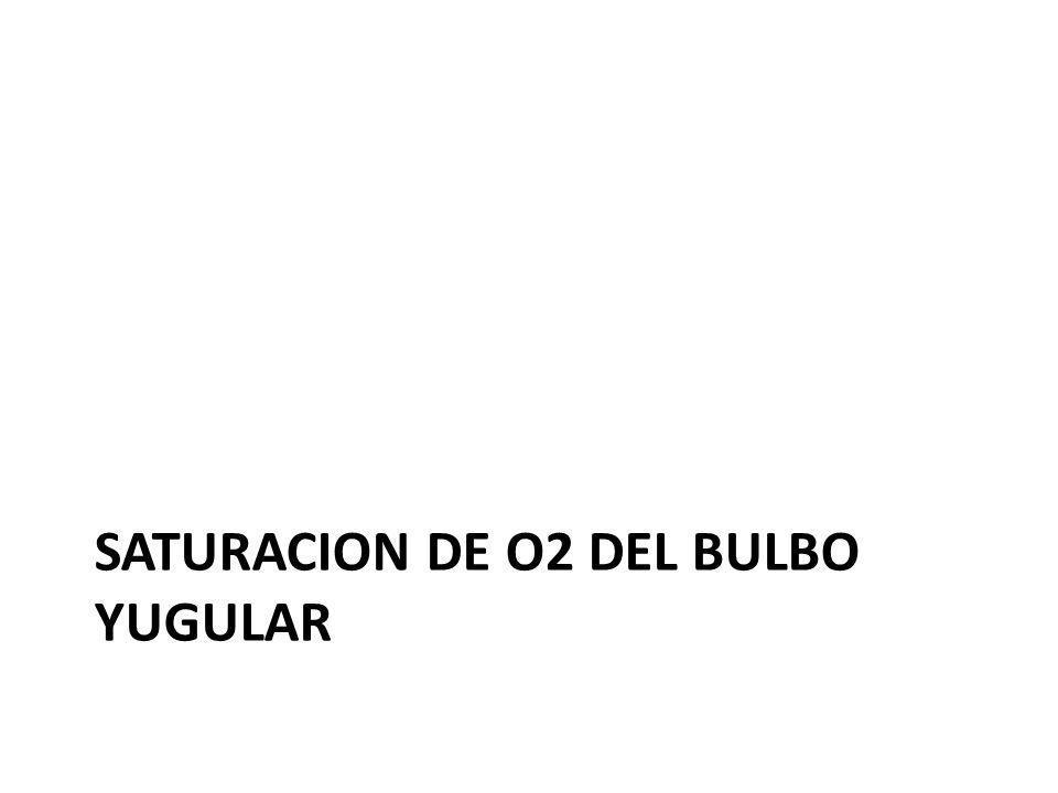 SATURACION DE O2 DEL BULBO YUGULAR