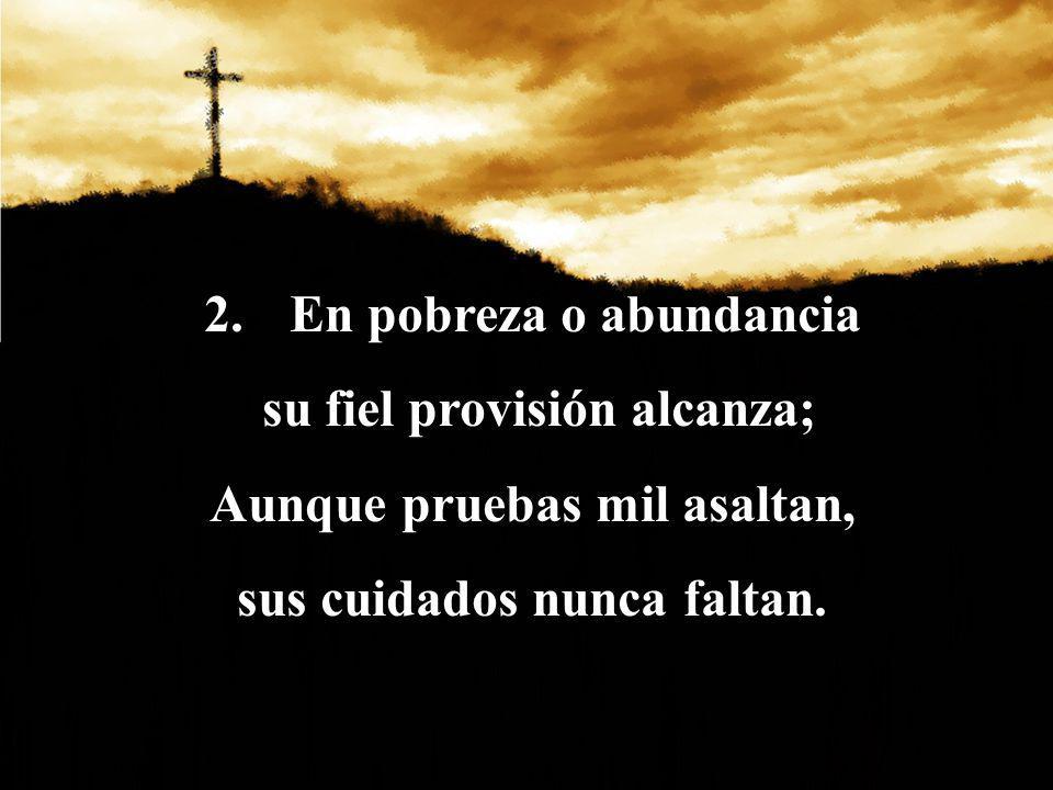 3.Sabe de sus aflicciones; Siente sus tribulaciones; Les consuela en tristeza, y les da su fortaleza.
